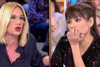 Miriam Saavedra y Belén Ro protagonizan una violenta riña de 'gatas' en 'Sálvame'