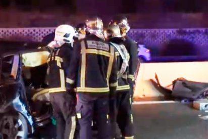 Brutal accidente de trafico en la A-4, a la altura de Pinto (Madrid), con fatales consecuencias