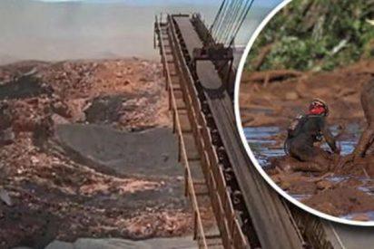 El impactante momento en que colapsa el dique de Brasil y deja más de cien muertos