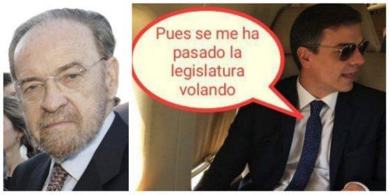 """Antonio Burgos se mofa a mandíbula batiente de Sánchez: """"Lo que le horroriza es tener que volver a volar en Ryanair"""""""