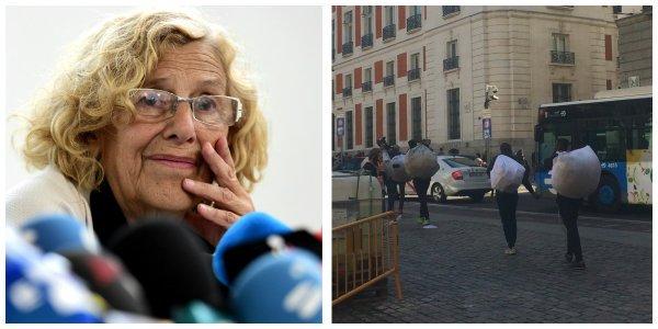 """Los manteros de Carmena arruinan a los comerciantes madrileños: """"Si esto sigue así, tendremos que cerrar e irnos al paro"""""""