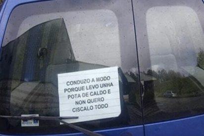 Maravillas: Este cartel pegado en un coche enamora a toda la red