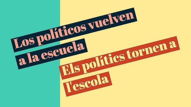 En Valencia, los políticos vuelven a la escuela