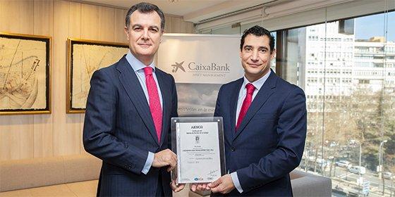 CaixaBank Asset Management, primera entidad gestora de fondos certificada por AENOR por su excelencia en la gestión de toda la cadena de valor
