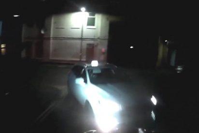 Vídeo: El instante cuando un taxista atropella a un ciclista y se da a la fuga