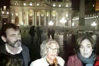 """El Papa pide a Carmena y Colau """"humanizar la politica y promover la acogida de inmigrantes"""""""