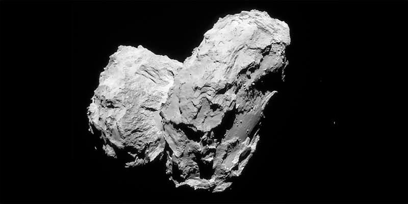 Misión Rosetta de la ESA: El estrés geológico retorció el cometa 67P en su formación