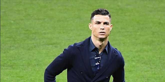 Las lujosas zapatillas deportivas de Cristiano Ronaldo en la previa de Atlético Madrid-Juventus