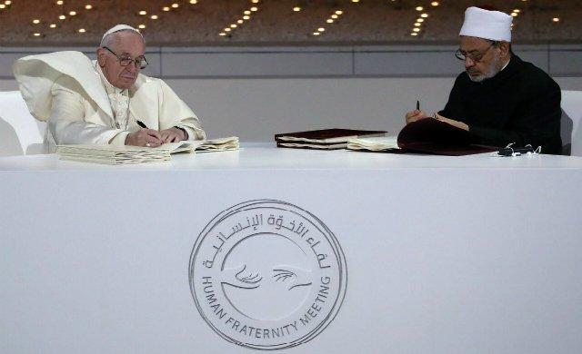 'Documento sobre la fraternidad humana por la paz mundial y la convivencia común'