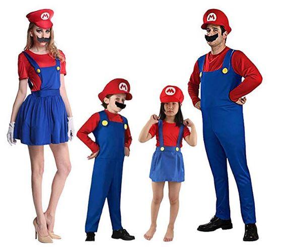 Disfraces de Carnaval originales - familia Super Mario