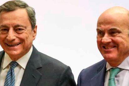 ¿Sabes el pastón que ganan Mario Draghi y Luis de Guindos por 'pilotar' el BCE?