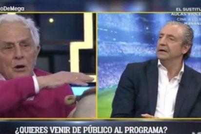 """Este espectador carga en directo contra Pedrerol en 'El Chiringuito': """"No me pilláis nunca más"""""""