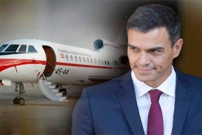 Pedro Sánchez y su 'humildad' socialista: un jet privado y 10 coches para un breve mitin en Galicia