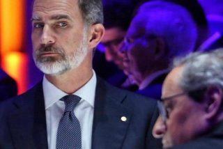 """El Rey Felipe avergüenza a Torra y al PSOE: """"no soy Pedro Sánchez, usted a mí no me torea"""""""