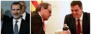 El rey Felipe VI 'destrona' con una frase las intenciones de Pedro Sánchez de volver a encamarse con los golpistas
