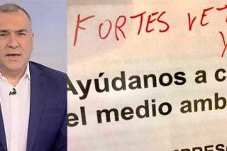 Parte de la plantilla de TVE pierde la paciencia: pintadas contra Fortes y peticiones de dimisión por editorializar a favor de Évole y laSexta