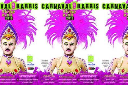 Este es el desquiciado cartel de Carnaval con Franco travestido patrocinado por el Ayuntamiento de Colau