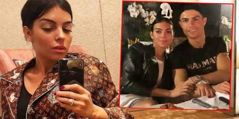 Georgina Rodríguez se pone un su pijama de 2.700 euros para 'dormir' con Cristiano Ronaldo