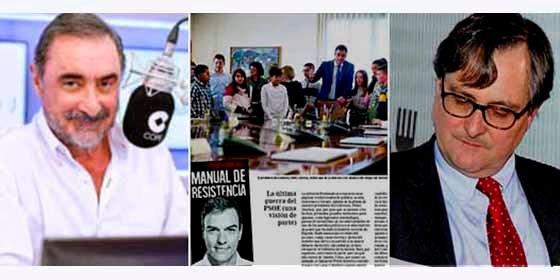 Herrera y Gistau se lo pasan en grande a costa de La Razón por el vomitivo peloteo al nuevo libro del escritor Sánchez