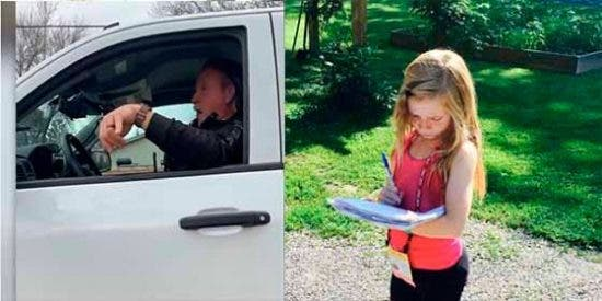 La reacción desafiante de una periodista de 12 años ante la amenaza de arresto de un policía en Arizona
