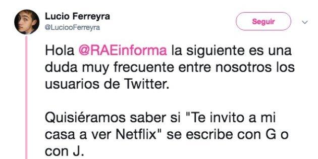 La brillante respuesta de la RAE a esta oscura broma sexual de un tuitero