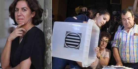 La 'negra' de Sánchez se mete en un jardín bíblico: Irene Lozano da un balón de oxigeno al independentismo comparando el 1-O con una violación
