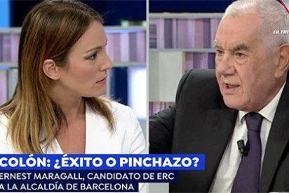 El separatista Maragall se planta en Antena3 insultando a los españoles y se lleva una reprimenda como para no volver