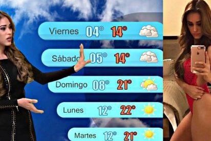 """A Yanet García """"la chica más sexy del clima"""" le dio calor y mira lo que decidió ponerse"""