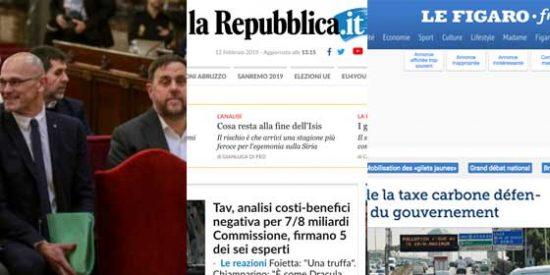 Pinchazo absoluto de la internacionalización del 'procés': los principales diarios europeos 'pasan' olímpicamente del juicio a los políticos independentistas
