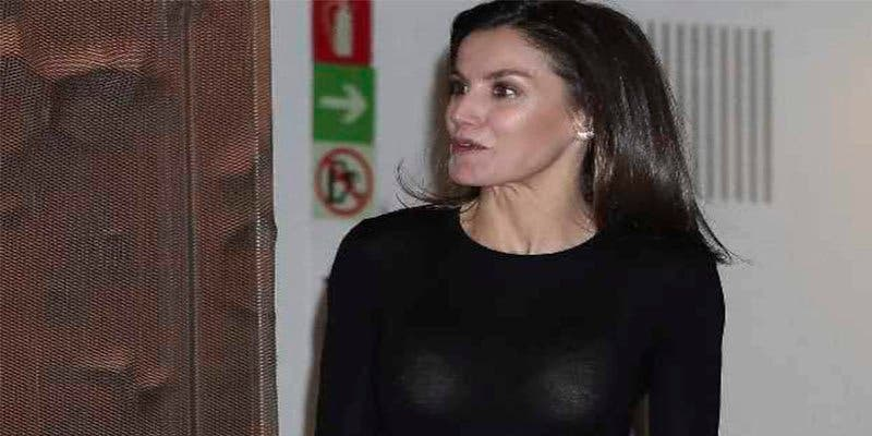 Un flash perverso 'desnuda' a la Reina Letizia de cintura para arriba
