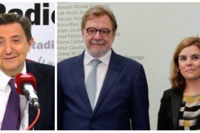 """Losantos se toma a guasa el apoyo de Cebrián a Soraya: """"Pero si no ha podido ser ni presidente de la RAE"""""""