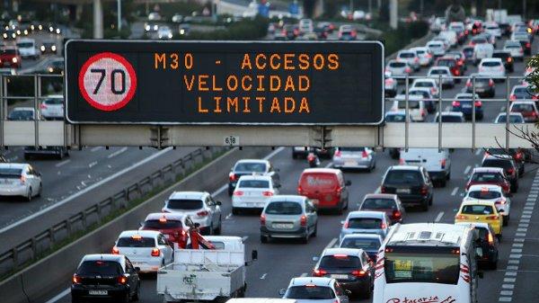 El Ayuntamiento de Carmena mantiene la reducción de velocidad a 70 km/h en la M-30 de Madrid
