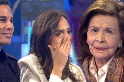 El lacrimógeno momento televisivo de la madre de Isabel Preysler con Tamara y Julio José