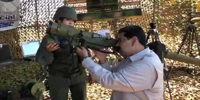 El dictador Nicolás Maduro exhibe músculo militar y envía un mensaje a Trump y a Guaidó