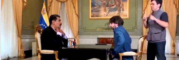 Entender el periodismo como un partido de fútbol: los periodistas de Atresmedia jalean con la camiseta puesta a Jordi Évole por su entrevista a Maduro