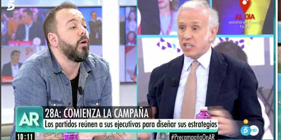 "Eduardo Inda vuelve a ridiculizar al 'falso obrero' Maestre porque es incapaz de digerir que VOX le ha robado votos a Podemos: ""En Wikipedia hay cosas que no salen"""