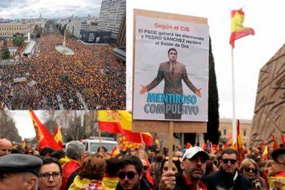 Clamor en el corazón de España para decir 'basta' al 'okupa' Sánchez y exigir elecciones urgentes