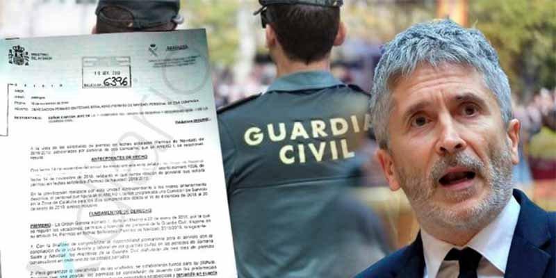 "La Benemérita, a cuchillo contra Marlaska pese a la 'paguita': ""La Guardia Civil no se doblega ante nadie"""