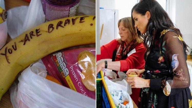 La polémica de Meghan Markle: Manda un mensaje a las trabajadoras sexuales... ¿En una banana?
