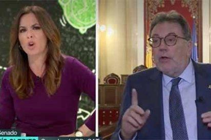Mamen Mendizábal frena en seco las chorradas del senador separatista ávido de 'casito' con lo del mediador internacional