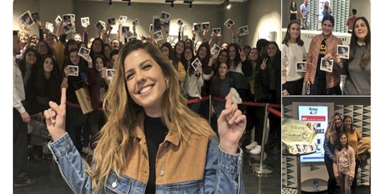 """""""Miedo"""" por lo que se ve en esta foto de la firma de discos de Miriam ('OT 2017') en Murcia"""