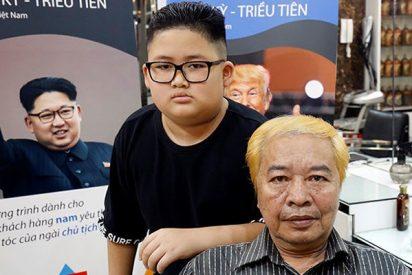La última moda en Vietnam: Los peinados de Trump y Kim Jong-un