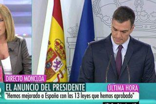 """'La groupie' de Sánchez, Esther Palomera, vaticina el fin del Presidente y se tira del carro: """"¡Es impropio que soportemos esto!"""""""