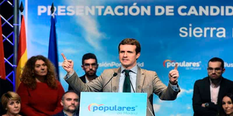 """Pablo Casado: """"Hemos pillado al Gobierno Sánchez vendiendo España a sus enemigos"""""""