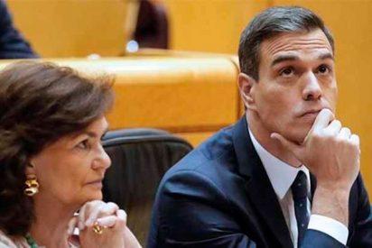 """La última 'atunada' de Calvo para ocultar las vacaciones del caradura de Sánchez: """"Ya no es candidato y puede hacer lo que quiera"""""""
