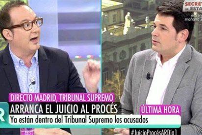 """Los independentistas defensores de sus políticos golpistas están irritados en la apertura del juicio: """"¡Tómate la pastilla!"""""""
