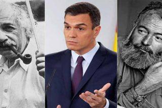 'Patinazos Pedro Sánchez': El plagiario tambien confunde en su libro a Einstein con Hemingway