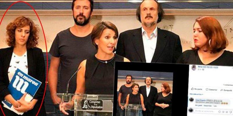 Pablo Iglesias hace como Stalin con Trotski: quita de esta foto a la diputada de Podemos que votó 'no' a los Presupuestos