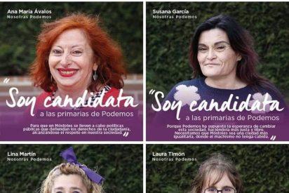 1cba2bcf92 La foto de las 'feas' candidatas feministas de Podemos arrasa en las redes  sociales - Periodista Digital