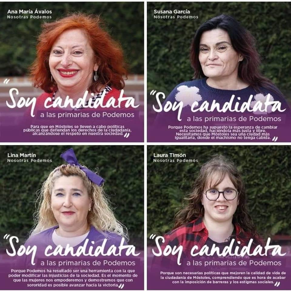 La foto de las 'feas' candidatas feministas de Podemos arrasa en las redes sociales